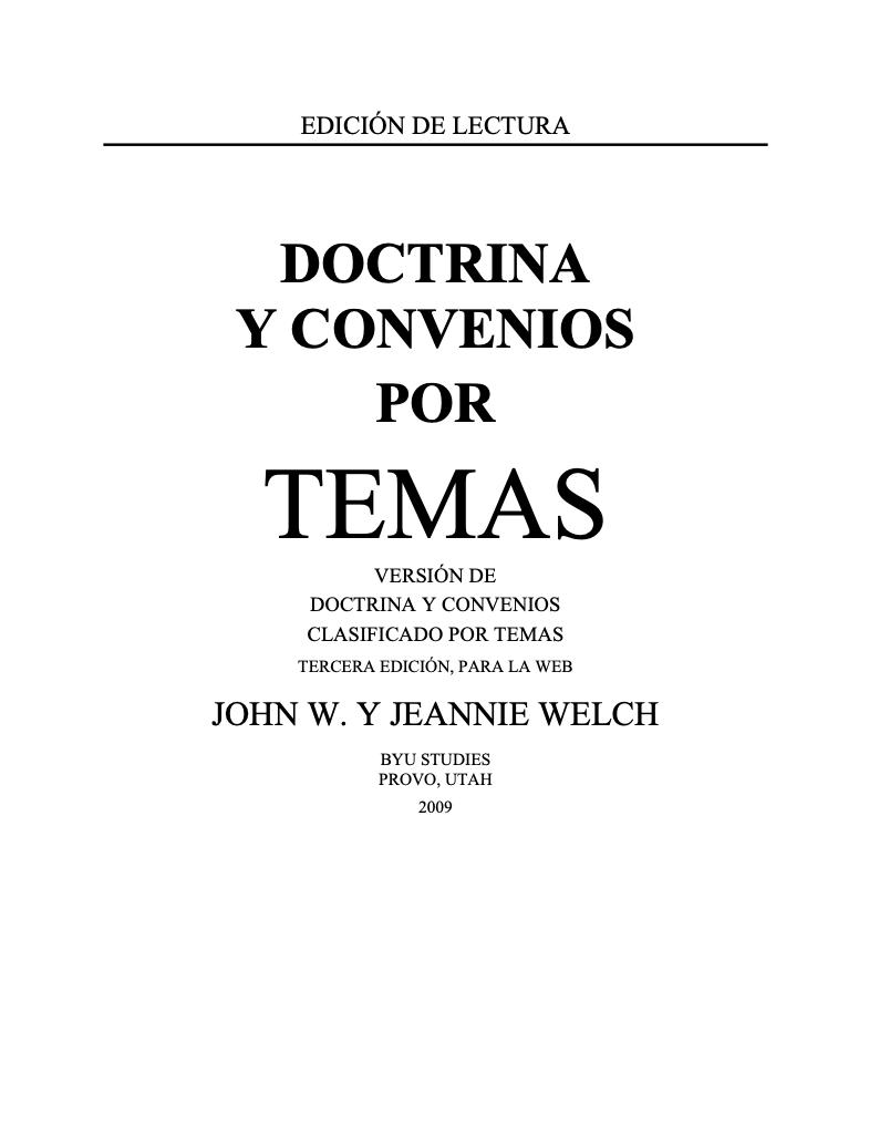 Doctrina y Convenios por Temas